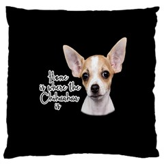 Chihuahua Large Flano Cushion Case (two Sides) by Valentinaart