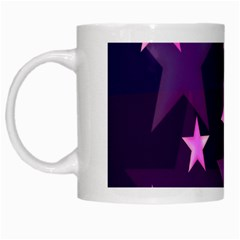 Background With A Stars White Mugs by Nexatart