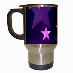 Background With A Stars Travel Mugs (white) by Nexatart