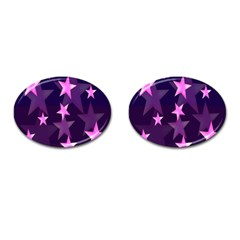 Background With A Stars Cufflinks (oval)