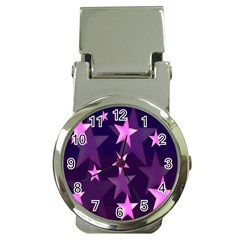 Background With A Stars Money Clip Watches by Nexatart