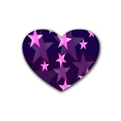 Background With A Stars Rubber Coaster (heart)
