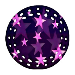 Background With A Stars Round Filigree Ornament (two Sides) by Nexatart