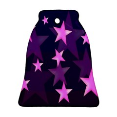 Background With A Stars Bell Ornament (two Sides)