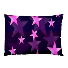 Background With A Stars Pillow Case (two Sides)