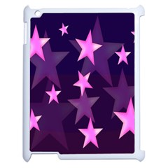 Background With A Stars Apple Ipad 2 Case (white) by Nexatart