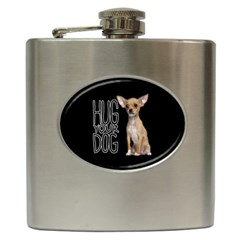 Chihuahua Hip Flask (6 Oz) by Valentinaart