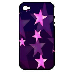 Background With A Stars Apple Iphone 4/4s Hardshell Case (pc+silicone) by Nexatart