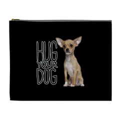Chihuahua Cosmetic Bag (xl) by Valentinaart