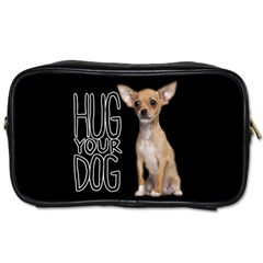 Chihuahua Toiletries Bags 2 Side by Valentinaart