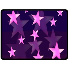 Background With A Stars Double Sided Fleece Blanket (large)