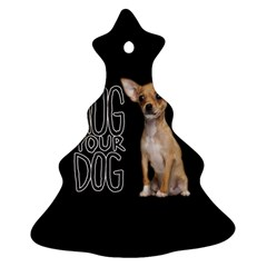 Chihuahua Christmas Tree Ornament (two Sides) by Valentinaart