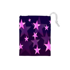 Background With A Stars Drawstring Pouches (small)