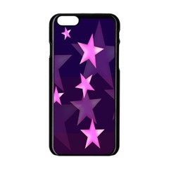 Background With A Stars Apple Iphone 6/6s Black Enamel Case by Nexatart