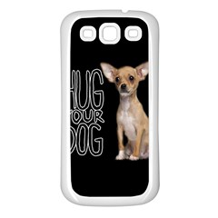 Chihuahua Samsung Galaxy S3 Back Case (White)