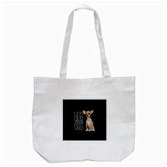 Chihuahua Tote Bag (white) by Valentinaart
