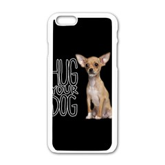 Chihuahua Apple Iphone 6/6s White Enamel Case by Valentinaart