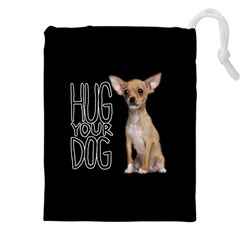 Chihuahua Drawstring Pouches (xxl) by Valentinaart