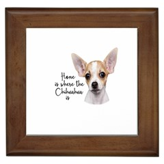 Chihuahua Framed Tiles by Valentinaart
