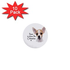 Chihuahua 1  Mini Buttons (10 Pack)  by Valentinaart