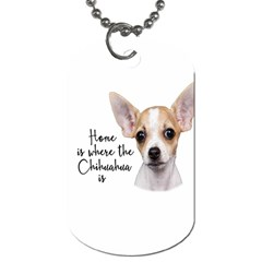 Chihuahua Dog Tag (two Sides) by Valentinaart
