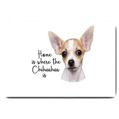 Chihuahua Large Doormat  by Valentinaart