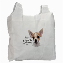 Chihuahua Recycle Bag (one Side) by Valentinaart
