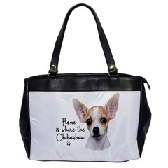 Chihuahua Office Handbags by Valentinaart