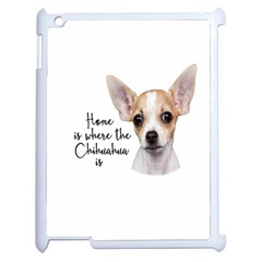 Chihuahua Apple Ipad 2 Case (white) by Valentinaart
