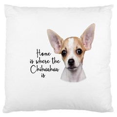 Chihuahua Large Cushion Case (one Side) by Valentinaart