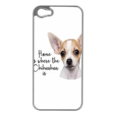 Chihuahua Apple Iphone 5 Case (silver) by Valentinaart