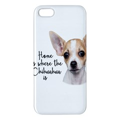 Chihuahua Apple Iphone 5 Premium Hardshell Case by Valentinaart