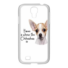 Chihuahua Samsung Galaxy S4 I9500/ I9505 Case (white) by Valentinaart