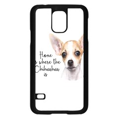 Chihuahua Samsung Galaxy S5 Case (black) by Valentinaart