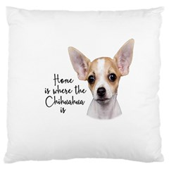 Chihuahua Large Flano Cushion Case (one Side) by Valentinaart