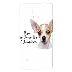 Chihuahua Galaxy Note 4 Back Case by Valentinaart
