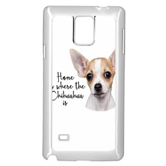 Chihuahua Samsung Galaxy Note 4 Case (white) by Valentinaart
