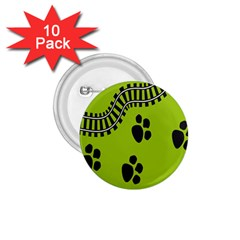 Green Prints Next To Track 1 75  Buttons (10 Pack) by Nexatart