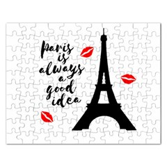 Paris Rectangular Jigsaw Puzzl by Valentinaart