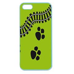 Green Prints Next To Track Apple Seamless Iphone 5 Case (color)