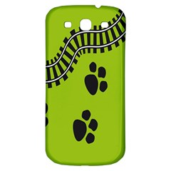 Green Prints Next To Track Samsung Galaxy S3 S Iii Classic Hardshell Back Case