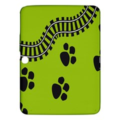 Green Prints Next To Track Samsung Galaxy Tab 3 (10 1 ) P5200 Hardshell Case