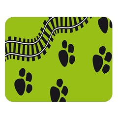 Green Prints Next To Track Double Sided Flano Blanket (large)  by Nexatart
