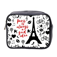 Paris Mini Toiletries Bag 2 Side by Valentinaart