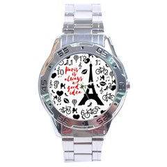 Paris Stainless Steel Analogue Watch by Valentinaart