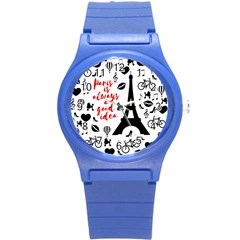 Paris Round Plastic Sport Watch (s) by Valentinaart