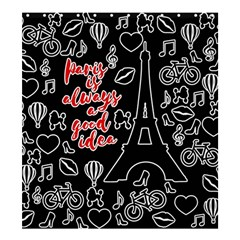 Paris Shower Curtain 66  X 72  (large)  by Valentinaart