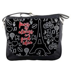 Paris Messenger Bags by Valentinaart