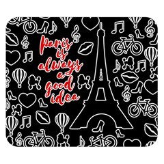Paris Double Sided Flano Blanket (small)  by Valentinaart