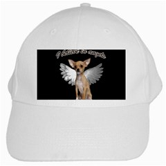 Angel Chihuahua White Cap by Valentinaart